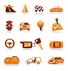 automotive icons vector image vector image