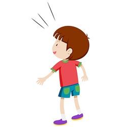 Back side of a little boy vector image vector image
