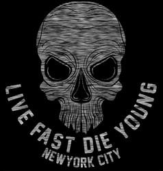 new york riders motorcycle club tee graphic design vector image