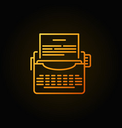 typewriter colorful icon vector image vector image