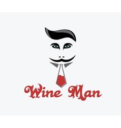 Wine man vector image