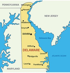 Delaware - map vector image