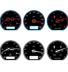Set of car speedometers for racing design vector image