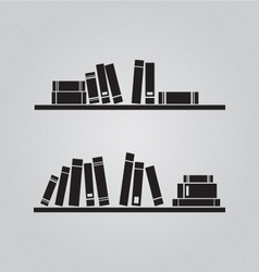 Books on the shaves vector image
