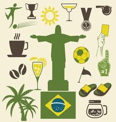 brazil ikonice vector image vector image