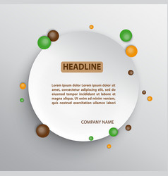 circle infographic background vector image vector image