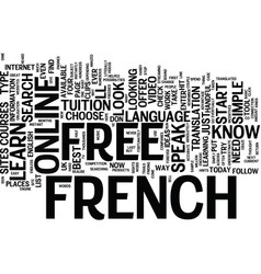 learn to speak french free text background word vector image vector image