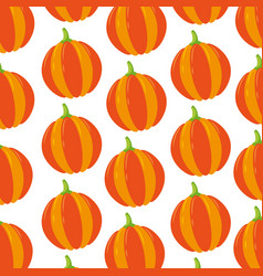 thanksgiving pumpkin dinner decoration seamless vector image