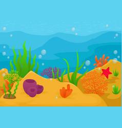 underwater landscape background vector image vector image
