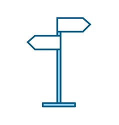blue traffic sign cartoon vector image vector image