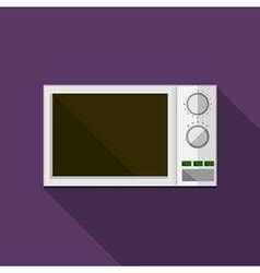 Flat icon for microwave vector image vector image