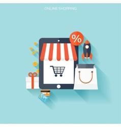 Internet shopping concept E-commerce Online vector image vector image