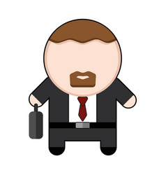 profession character bussinesman vector image