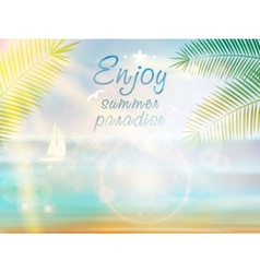 Summer Poster Design with Typography vector image vector image