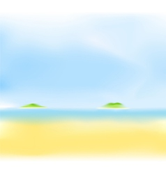 summer sea island vector image