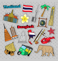 thailand travel elements with architecture vector image vector image