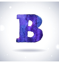 Watercolor letter B vector image vector image