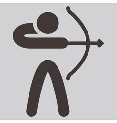 2269 archery icon vector
