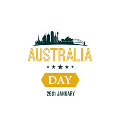 26 january happy australia day banner with text vector image