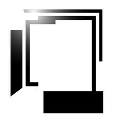 Abstract angular edgy shape on white art vector