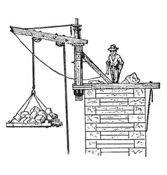 abutment crane vintage vector image