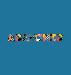 Academic concept word art vector