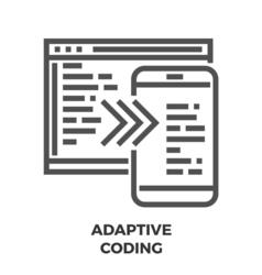 Adaptive Coding Line Icon vector image