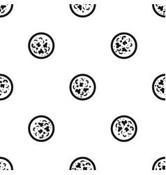 asian hot dish pattern seamless black vector image