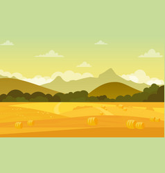 Autumn landscape with vector
