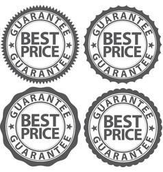 best price guarantee sign set vector image
