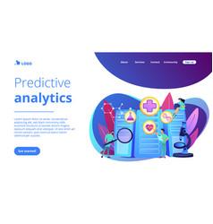 big data healthcare concept landing page vector image