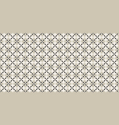 black and white islamic seamless pattern vector image