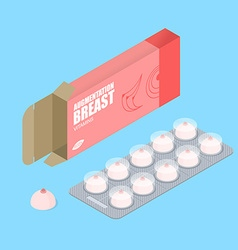 Breast augmentation pills in pack Hooters tablets vector image