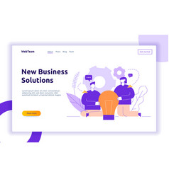 business and brainstorming design concept vector image