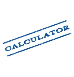 Calculator Watermark Stamp vector
