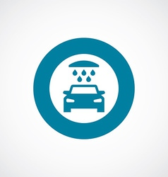 car wash icon bold blue circle border vector image