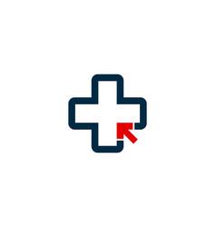 Click medical logo icon design vector