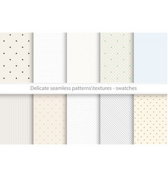 Collection of seamless delicate patterns vector