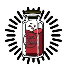 Color vintage Valentines day emblem vector image vector image