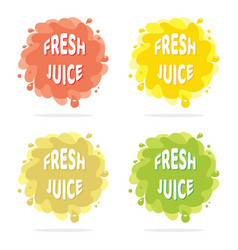 colorful juice splash isolated backgrounds vector image