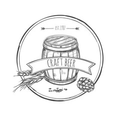 Craft beer sketch concept vector