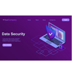 Cybersecurity isometric icon data security vector