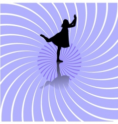 dancer silhouette vector image