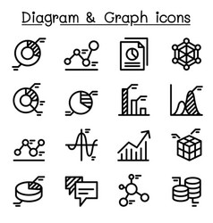 data diagram graph infographic icon set vector image