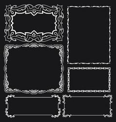 decorative vintage borders design elements vector image