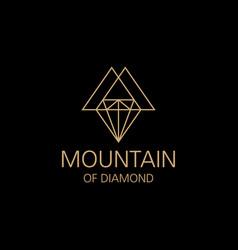 diamond line art logo vector image