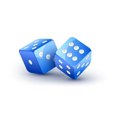 Dice design isolated on white Two dice casino vector