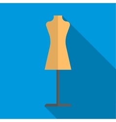 Dressmakers model icon flat style vector