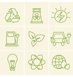Ecology icons vector image