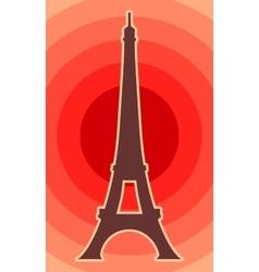 Eiffel tower in Paris vector image